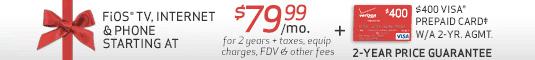 Verizon FiOS Triple Play special deal
